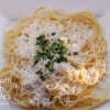 Spaghetti with Myzithra Cheese