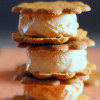 Pumpkin Ice Cream Sandwiches→