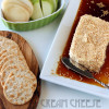 Baked cream cheese and soy sauce appetizer