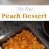 The best peach dessert