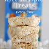 Tips for the best rice krispie treats every time