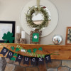 St. Patrick's Day mantle + printables