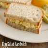 Egg Salad Sandwich with homemade mayo