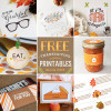 Thanksgiving Free printables - blog hop