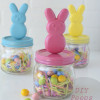 DIY peeps bunny candy jars