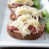Mini open faced Reuben Sandwiches