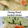 Creamy Ranch crockpot chicken