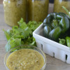 Homemade roasted green enchilada sauce