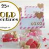 25+ gold Valentines