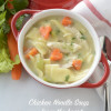 Chicken Noodle Soup with heart shaped carrots