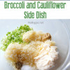 Swiss Cheese Broccoli Cauliflower Bake