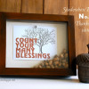 Shadowbox Printable for Thanksgiving {free}