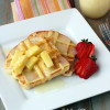 Waffle French Toast with coconut buttermilk syrup