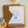 Lightbulb - graduation cards (free printables)