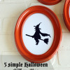 5 simple Halloween Silhouettes (free printables)