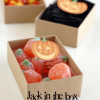 Halloween party favors - Jack O' Lantern in a box