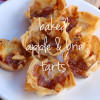 Baked apple and brie tarts