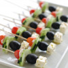 Greek salad on a stick