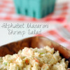 Alphabet macaroni shrimp salad