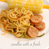 Zoodles with fresh tomato sauce (recipe)