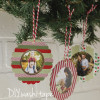 DIY washi tape photo ornaments