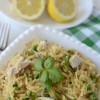 Lemon chicken basil orzotto