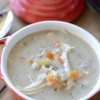 Creamy crock pot chicken and wild rice soup