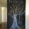 Chalkboard Thankful Tree with waxed leaves