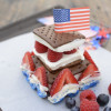 Mini Patriotic Ice cream Sandwich Cake