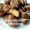 No Bake Crispy Chocolate Peanut Butter Eggs