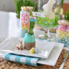 Easter Grass Table Setting DIY