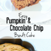 Easy Pumpkin Chocolate Chip Bundt Cake