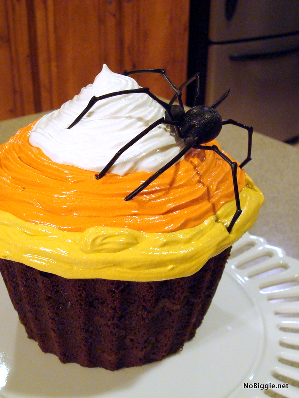 giant Halloween candycorn Cupcake | NoBiggie.net