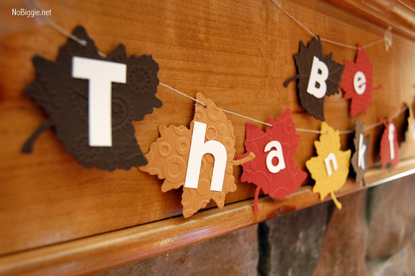 DIY Thanksgiving Banner | NoBiggie.net