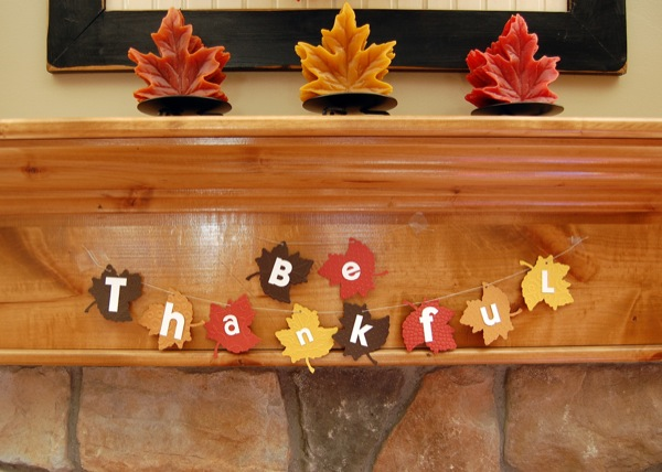 Thanksgiving banner for Thanksgiving decorations ideas for office