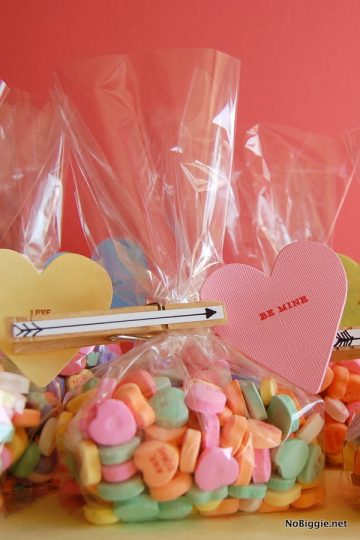 Cupid's Arrow Clothes Pin Valentines