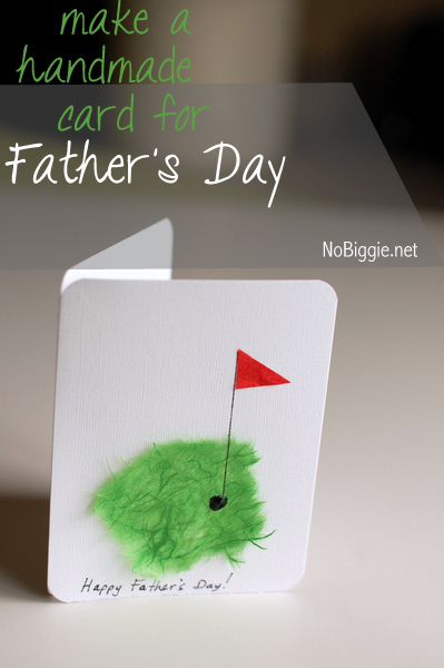 Make a handmade Father's Day card - NoBiggie.net