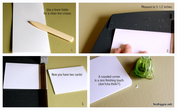 Make a handmade Father's Day card - how to - NoBiggie.net