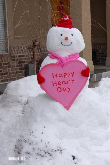 Valentine's Day Snowman