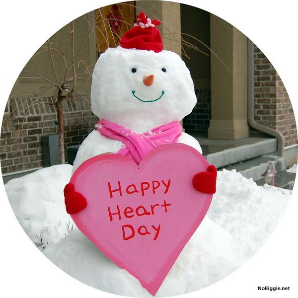 Valentine's Day snowman - NoBiggie.net