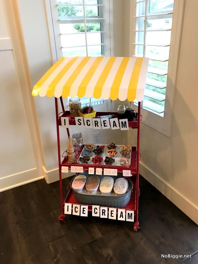 ice cream party cart