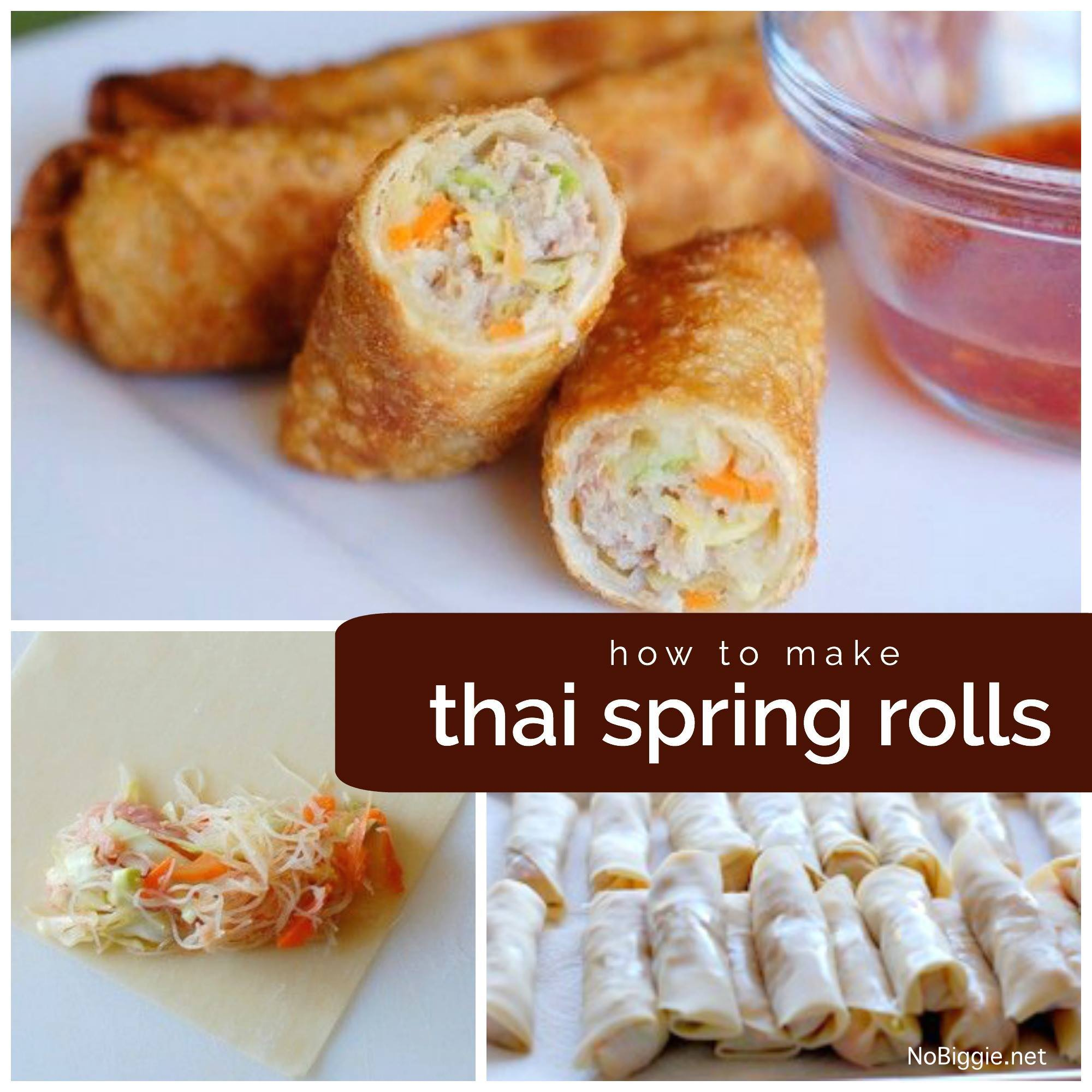 how to make Thai Spring Rolls | NoBiggie.net