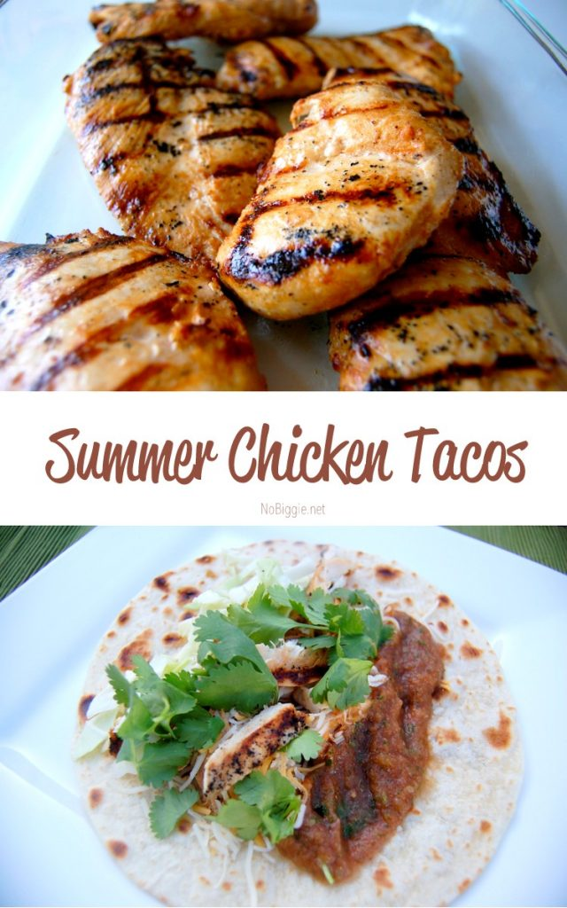Summer Chicken Tacos | this marinade is perfect with chicken | NoBiggie.net