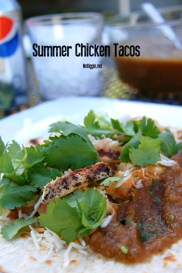 Summer Chicken Tacos