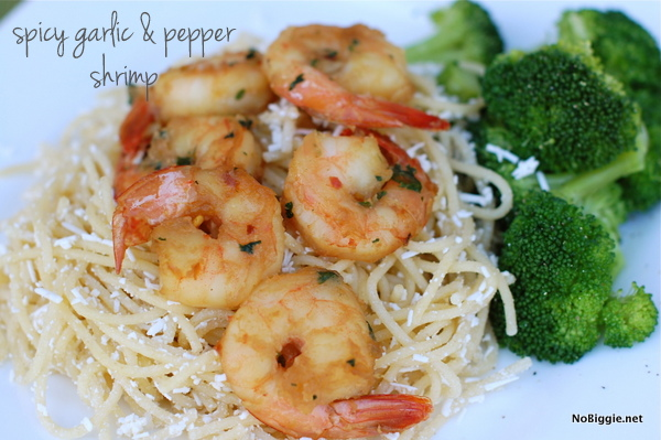 spicy garlic and pepper shrimp recipe - NoBiggie.net