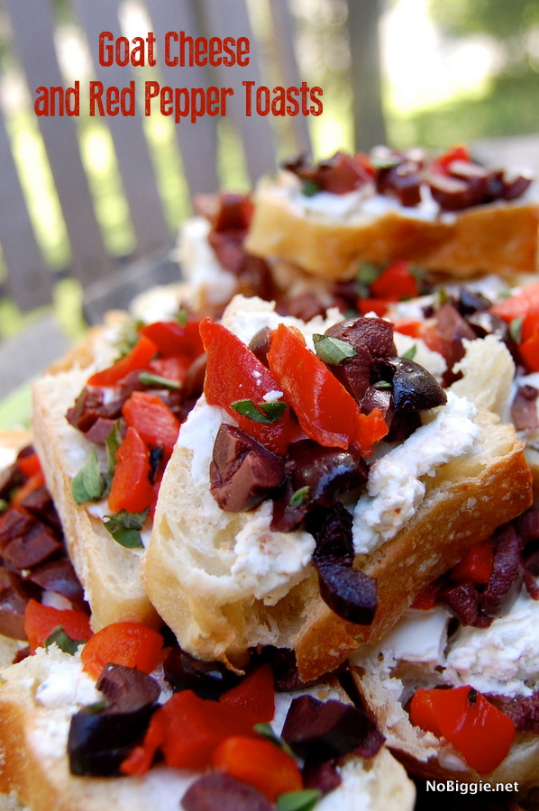 Goat Cheese and Red Pepper Toasts