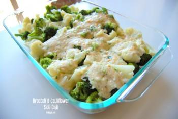 Swiss Cheese broccoli cauliflower sidedish