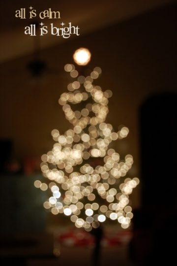 How to Take a Blurry Photo of Your Christmas Tree