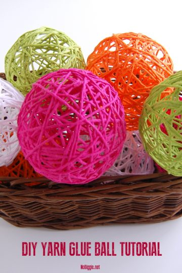 DIY Glue Yarn Ball Tutorial