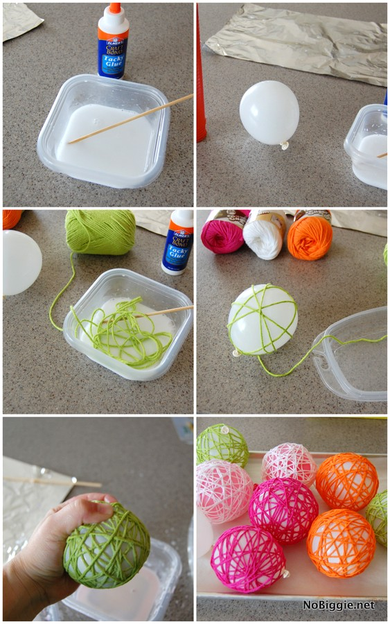 Yarn Glue Ball Tutorial